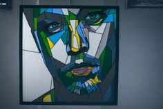 Stained Glass Portrait of Leonardo Dicaprio. Next portrait can be yours or someone beloved. Perfect unique gift something and jus… Stained Glass Paint, Making Stained Glass, Stained Glass Patterns, Mosaic Art, Mosaic Glass, Glass Art, Mosaic Portrait, Character Makeup, 2d Art