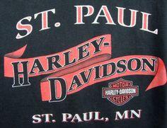 St Paul Harley Davidson Graphic T-shirt XL Black Short Sleeve 100% Cotton Mn #HarleyDavidson #GraphicTee