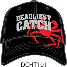23f50745a2f Signature logo | red sandwich bill | Red Crab on black | Signature Buckle. Deadliest  Catch Products · Hats