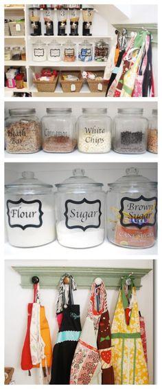 55 Smart Kitchen Organization Ideas You Should Try - EcstasyCoffee Small Kitchen Organization, Pantry Organization, Kitchen Storage, Organizing Ideas, Organized Pantry, Pantry Ideas, Organising, Smart Kitchen, Kitchen Pantry