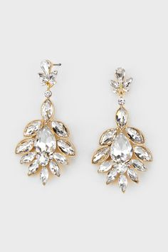 Gorgeous Marquise Earrings in Pure Crystal