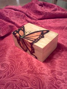 Handmade Butterfly Wooden Jewelry Box