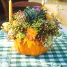 Home made pumpkin vase for fall tablescapes