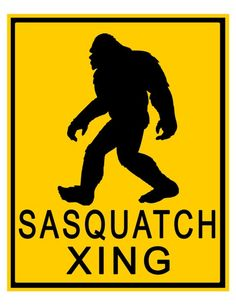 Bigfoot Sasquatch Crossing Xing Road Sign by DigitalDesignVault, $5.00