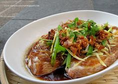 Annielicious Food: Steamed Fish with Fermented Bean Paste (豆瓣酱蒸鱼)