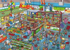 Supermarket que paso preterite Spanish Teacher, Teaching Spanish, Teaching English, Preterite Spanish, People Who Help Us, Wheres Wally, Vocabulary Practice, Illustration Story, Hidden Pictures