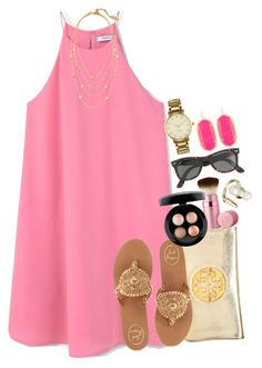 """""""day 2 {em}"""" by syd-em ❤ liked on Polyvore featuring MANGO, Tory Burch, Jack Rogers, Chloe + Isabel, Too Faced Cosmetics, MAC Cosmetics, J.Crew, Kendra Scott, Kate Spade and lydhcontestsummer"""