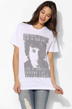eae4e9242 Lyric Culture Dylan Tee #urbanoutfitters Like A Rolling Stone, Culture  Clothing, Patchwork Dress