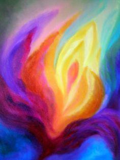 Pastell kreide hintergrund malen