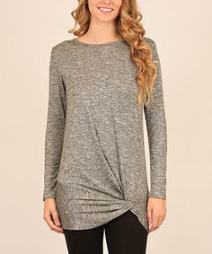 Love this Mocha Knot-Accent Tunic on #zulily! #zulilyfinds