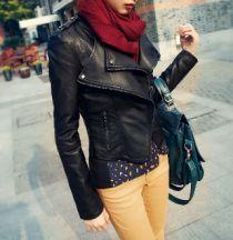 Women's Moto Jacket Faux Leather