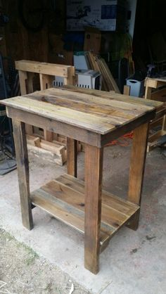 Kitchen Island. Made by me, from pallet wood