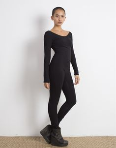 Black Catsuit Organic Cotton