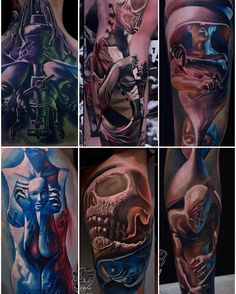 My set of favorite tattoos from 2016!  Mainly my style. All of the designs were created with my own concepts and 3D modeling. This style is a priority for me at this point in time. So feel free to contact me if you're interested in expanding my portfolio and getting some nice pieces from me at TOFI_TATTOO@WP.PL I'm proud that most of my designs was made based at what I would like to do without customers touch in it. That's why in 90% of my 2016 works I was able to do what I had on my mind…