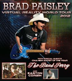 Are you ready for Brad Paisley, The Band Perry and Easton Corbin on Friday, July 27th at Shoreline? Tickets on sale May 11th at 10am at Livenation.com