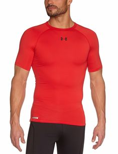 336616f21 Under Armour Men's XL HeatGear Sonic Compression Red Shirt X-Large  1236224-600 #UnderArmour #TShirt. J&M Online Boutique