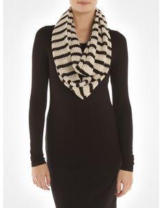 Foulard éternité à rayures / Striped infinity scarf www.jacob.ca