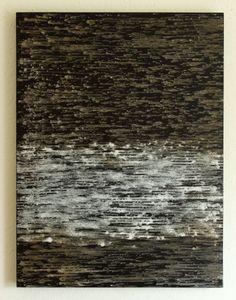white on dark - 80x60x5cm - mixed media on board - CHRISTIAN HETZEL