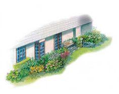 Colorful Spring Shade-Garden Plan