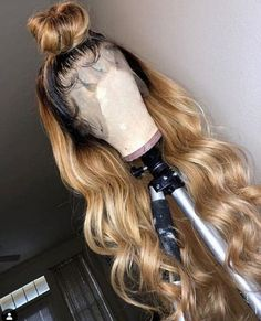 Ulovewigs Human Virgin Hair Ombre Wave Pre Plucked Lace Front Wig And Full Lace . - Ulovewigs Human Virgin Hair Ombre Wave Pre Plucked Lace Front Wig And Full Lace Wig For Black Woman - Blond Mi-long, Blonde Ombre Hair, Blonde Wig, Ombre Hair Color, Blonde Balayage, Ash Blonde, Platinum Blonde, Real Hair Wigs, Human Hair Lace Wigs