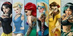 The hottest Punk Rock, Metal, Goth & Emo Disney Rebel Characters you will ever see 2013 Emo Disney, Disney Pixar, Walt Disney, Punk Disney Princesses, Disney And Dreamworks, Disney Girls, Disney Love, Disney Art, Hipster Disney