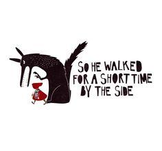 Gokce Irten - Little Red Riding Hood Illustration