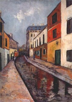 Bievre - Maurice Utrillo was a French painter who specialized in cityscapes. Gmunden Austria, Maurice Utrillo, Amedeo Modigliani, Post Impressionism, Art Database, City Buildings, French Artists, Modern Art, Art Photography