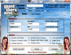 dns codes for gta 5 online ps4