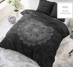 "Komplet pościeli z bawełny ""Czarny design"" Comforters, Mandala, Blanket, Cotton, Furniture, Design, Home Decor, Kappa, Products"