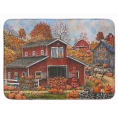 Caroline's Treasures Pick your Own Pumpkins Fall Doormat Rug Size: Pick Your Own Pumpkins, Fall Doormat, Pumpkin House, Outdoor Doors, Indoor Outdoor, Glass Cutting Board, Cutting Boards, Painted Pumpkins, Painted Rocks