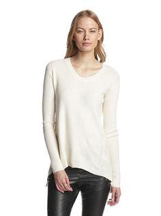 57% OFF Wilt Women's Slouchy High-Low Sweater (Vanilla)