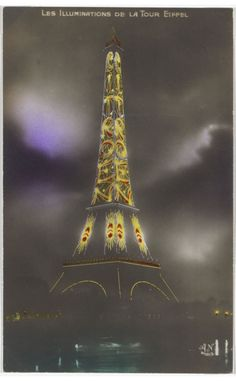 Eiffel Tower at Night, with Citroën advertising, 1925.... Eiffel Tower At Night, France Eiffel Tower, Psychedelic Quotes, Floral Furniture, Bridge Card, Lighting Logo, Josef Albers, Pattern Photography, World View