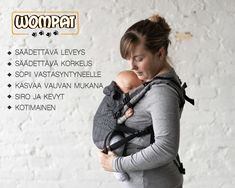 Wompat kantoreppu | Liinalapsi Baby Sling, Baby Wraps, Woven Wrap, Baby Wrap Carrier