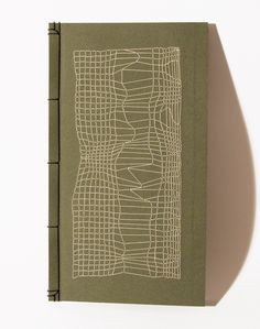 Embroidered Notebook / Disturbed Mesh via Etsy.