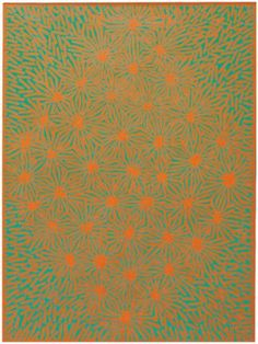 RICHARD ANUSZKIEWICZ (B. 1930) Untitled (Orange and Teal), painted 1980.