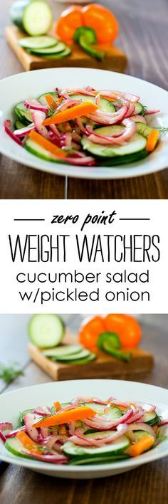 Weight Watchers Salad Recipe Ideas - Weight Watchers Zero Point Recipe - Cucumber Salad with Easy Pickled Onion