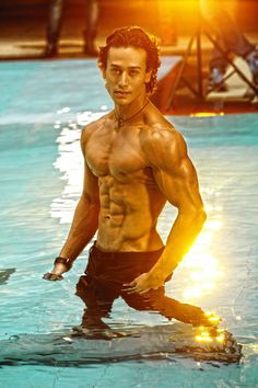 Happy Birthday to Tiger Shroff Wedding Dresses Men Indian, Wedding Dress Men, Varun Dhawan Body, Tiger Shroff Body, Shirtless Hunks, Tiger Love, Couple Photoshoot Poses, Mens Fashion Blazer, Cute Actors