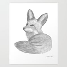FOX I - pencil illustration Art Print by merviemilia Pencil Illustration, Fox, My Arts, Illustrations, Art Prints, Photography, Design, Art Impressions, Photograph