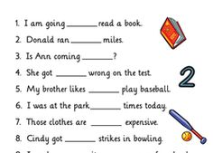 Worksheets: Homophones: To, Too or Two. My students WILL know and use these correctly! Teach children English with this worksheet to learn homophones to too and two. Great for at school and home learning. Teaching Grammar, Grammar Lessons, Teaching Writing, Teaching English, English Grammar For Kids, Grammar Games, Learning English For Kids, English Language Learners, Kindergarten Writing