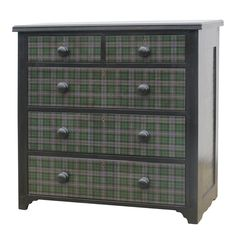 Tartan Chest of Drawers  UK  1920  Victorian dresser or chest of drawers with later application of tartan print  Price