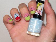 Nails Art manzanas / Mes de la fruta