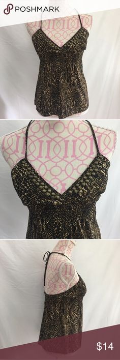 🎀3 For $30 Guess Embellished Halter Top Size XS Guess leopard print embellished halter top. Excellent condition  Size XS  95% polyester/5% spandex Guess Tops Tank Tops