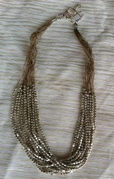 Roost Multi-strand Silver Necklace $40.00 Urban Cottage
