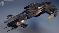 Mercenary Gunship - Anvil Scimitar Concept