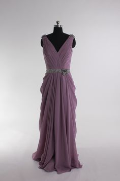 Sexy V-neck chiffon floor-length dress $209.00