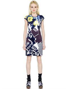 CLOVER CANYON FLORAL RHYTHM NEOPRENE DRESS, MULTICOLOR. #clovercanyon #cloth #dresses