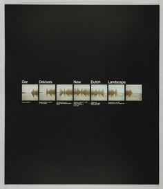Poster, Ger Dekkers: New Dutch Landscape, 1979 Graphic Design Inspiration, Marketing, Illustration, Dutch, Landscape, News, Poster, Flow, Scenery