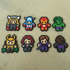 The Avengers perler beads by captainamberica