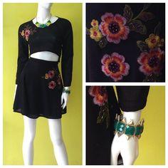 Falda volada y crop top con detalles bordados de El Origen - marca orgullosamente mexicana #amolapeli #ootd #vivamexico #compralocal