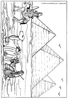 ancient egypt papyrus to color online coloring page countries